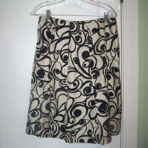 Talbots Petites Silk Flare Skirt